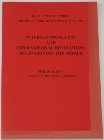Josephine Onoh Memorial Lecture 1989 - International Law and International Revolution